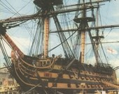 H.M.S. Victory, Portsmouth Dockyard, Hampshire, Plate 65, Sailing Ship Print, English Heritage, Nautical Art, Vintage Print, 1957