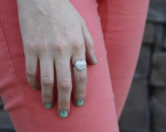 Love Heart Glitter Ring.