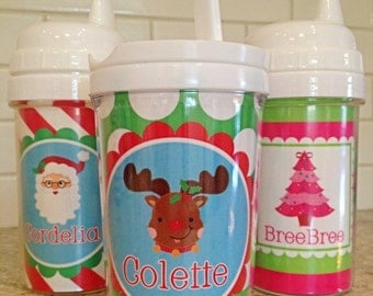 Christmas Kids Sippy Cups