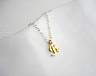 Personalized Necklace In Gold Simple Gold Initial Necklace Monogram Letter Necklace Custom Necklace Wedding Jewelry Gift For Her Under 25