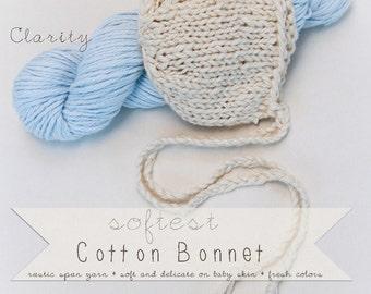 RTS Softest Cotton Bonnet - Newborn Boy- Newborn Girl - Choose Color- Knit Hat Photography Prop (Ready to Ship)