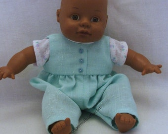 """Green Romper outfit fits 8"""" dolls"""