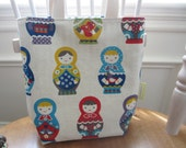 LAST ONE - SMALL Matryoshka Babushka Canvas Bag