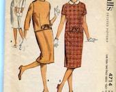 McCalls 4714 Vintage 50s Junior 2 piece dress Pattern EASY