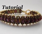 Tutorial for Noughts and Crosses Beadwoven Bracelet with Tila Beads and Czech Glass