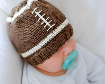 Knit Football Baby Hat Pattern