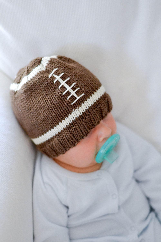Knit Pattern Baby Football Hat : Knit Football Baby Hat Pattern
