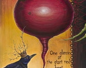 the Queen and The Beet by Shanna Trumbly-10.25 x15.75 Small Canvas Giclee Print