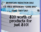 SALE-Bath Milk,Salts,Scrubs Variety GRAB Bag- 1/2 Price-20 Dollars Worth of Products for JUST 10