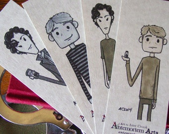 4 Sherlock BBC Bookmarks - Happy and Sad - Sherlock Holmes and Dr John Watson