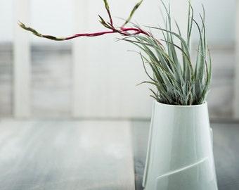 Hand built Porcelain Flower Vase  - Tiered Collection