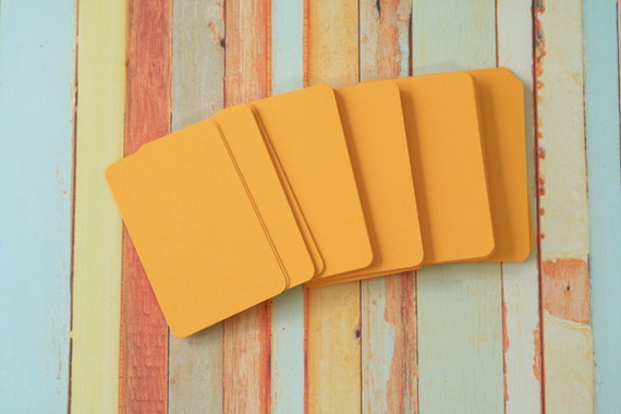 50pc SUNFLOWER Yellow Vintage Series Business Card Blanks