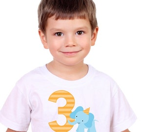 Personalized Elephant Birthday Shirt or Bodysuit - Personalized with ANY Name and Age
