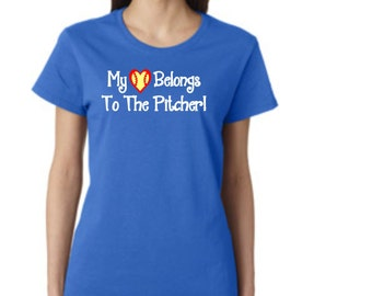 Love My Pitcher! - SOFTBALL - short sleeve t-shirt - free shipping  Contiguous U.S.  #285