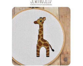 Baby Giraffe Cross Stitch Pattern Instant Download