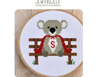 Super Koala Cross Stitch Pattern Instant Download