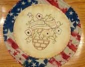Primitive Americana Candle Mat--SCOFG