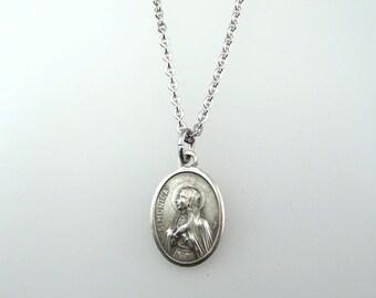 Saint Monica Medal Necklace