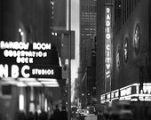 New York City Art, Black & White Photograph, Radio City, NBC Rainbow Room, Office Decor, Men