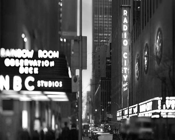 Radio City, New York City Print, Black and White New York Photography, NBC Rainbow Room, NYC Art