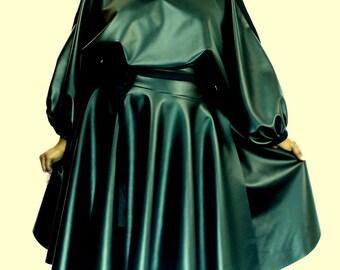 """Plus Size Faux Leather Wrap Skirt ( 2 - 24 ) 30"""" L"""