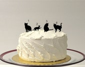 ADD ON Cat Silhouette Cake Topper  Add on for any silhouette Wedding Cake Topper Bride Animal Pet dog