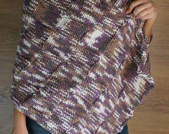 Knitted  shawl - handmade - Hand knitted by T. Catana - Gift Guide - Women Fashion - Ready to Ship!