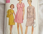 Simplicity 7450 1960s Sheath Dress and Jacket Vintage Sewing Pattern Bust 36