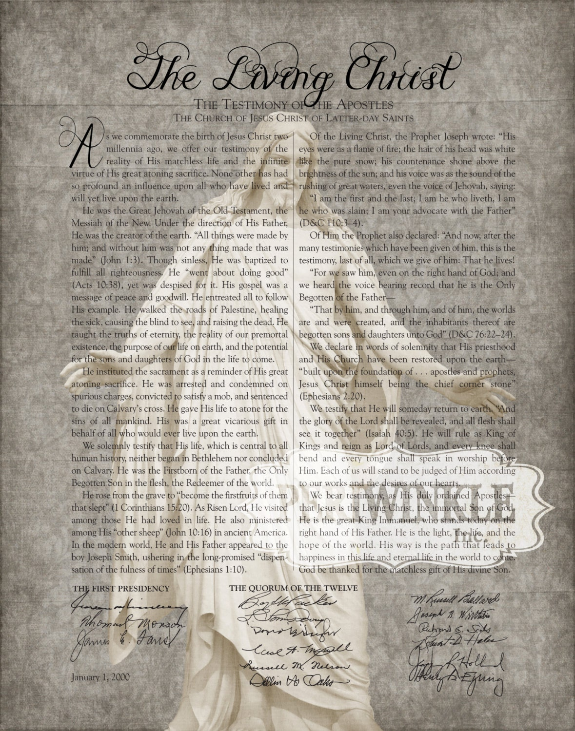 It's just a photo of Witty The Living Christ Printable