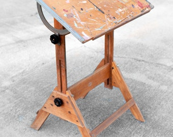 Vintage Industrial Anco Bilt Drafting Table - child's art table, painter table, work space
