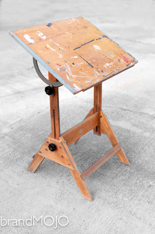 Vintage Industrial Anco Bilt Drafting Table Child S Art