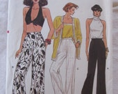 vintage sewing pattern-- VOGUE MISSES PANTS- Vogue 9537 (size 14-16-18) --1986