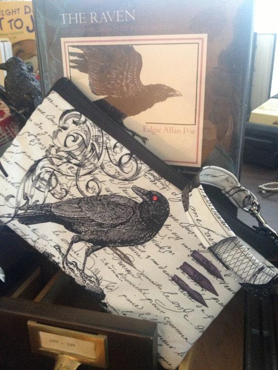 Edgar Allan Poe/Raven Wristlet Purse