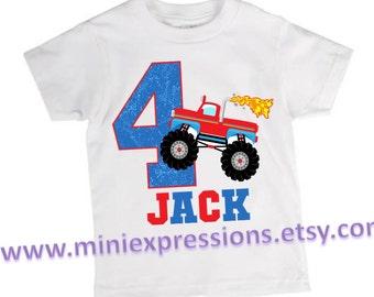 Monster Truck Birthday shirt Personalized