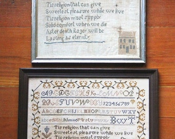 Lasting As Eternity (An Antique Sampler Adaptation) : Cross Stitch Pattern by Heartstring Samplery