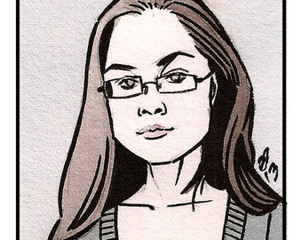 "5""x7"" Custom Watercolor Comic Book Bust Portrait"