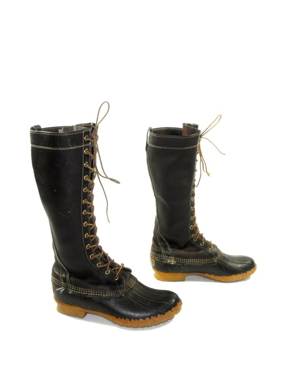 Ll Bean Maine Hunting Shoe Lace Up Duck Boots In Wonderful