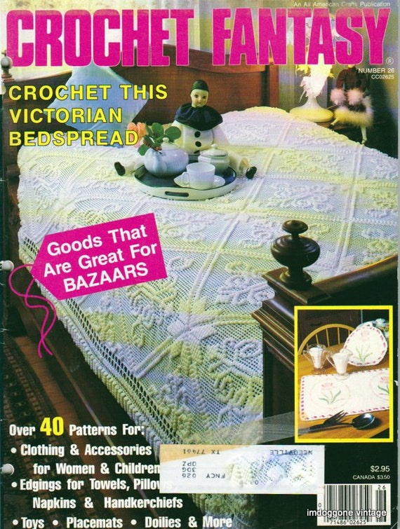 Crochet Fantasy Magazine : Crochet Fantasy Magazine March 1986, Number 26, Vintage Crochet ...