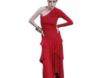 Women's AURA One Shoulder Asymmetrical Dress