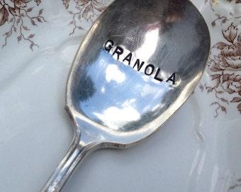 Vintage Silverware Silver Plate GRANOLA Spoon