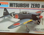 Model airplane Mitsubishi Zero 1/48 scale kit Monogram WWII aircraft Japanese Military aviation World War II