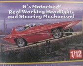 Model Car Diamond Duster 1/12 scale kit Lindberg motorized Limited Edition Space Age Car Re-issue of 1960's Hot Rod Atomic custom sports car