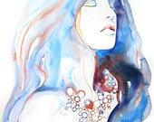 Archival Prints of Watercolour Fashion Illustration, Watercolor Art, Fashion Art. Titled - Natalia 3