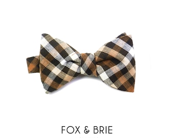 Woodland Gingham Bow Tie
