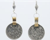 Silver Coin earrings / Afghan Coin earrings / Coin jewelry / Antique Coin earrings / Antique Afghan Coins / Boho earrings / Gypsy earrings