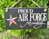 Air Force Sign, Proud Air Force Family, Family Sign, Military Sign, Americana Sign