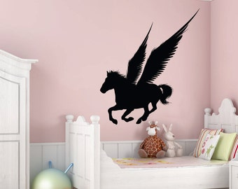 Vinyl Wall Art Decal Sticker Pegasus Silhouette 1307B