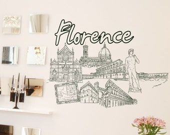 Vinyl Wall Decal Sticker Florence 1414s