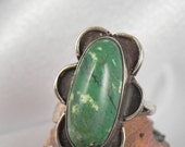 Green Jasper Sterling Ring