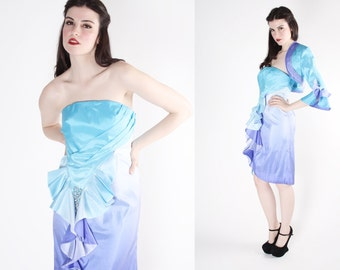 Vintage Ombre Dress - Mermaid Dress - Marie Antoinette - Women's Suit